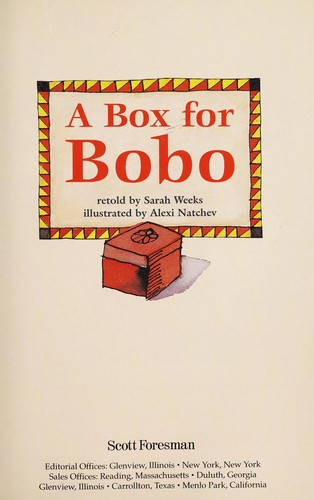 A box for Bobo by Sarah Weeks