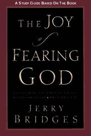 Cover of: The Joy of Fearing God Study Guide | Jerry Bridges