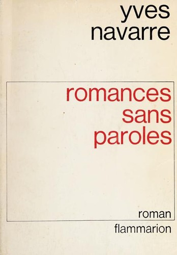 Romances sans paroles by Yves Navarre