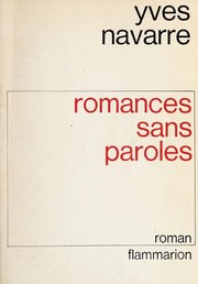 Cover of: Romances sans paroles | Yves Navarre