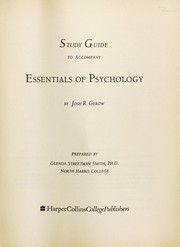 Cover of: Study guide to accompany Essentials of psychology | Glenda Streetman Smith