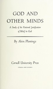 Cover of: God and other minds | Alvin Plantinga