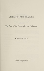 Cover of: Aversion and erasure | Carolyn J. Dean