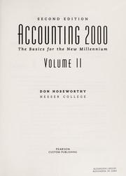 Cover of: Accounting 2000 | Don Noseworthy