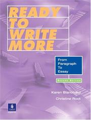 Cover of: Ready to write more | Karen Lourie Blanchard