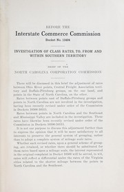 Before the Interstate Commerce Commission, docket no. 13494