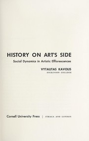 Cover of: History on art