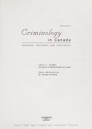 Cover of: Criminology in Canada | Larry J. Siegel