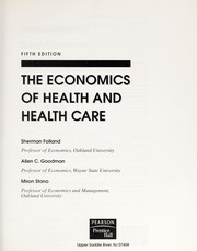 Cover of: The economics of health and health care | Sherman Folland