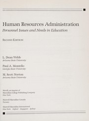 Cover of: Human resources administration | L. Dean Webb