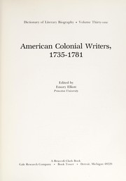 Cover of: American colonial writers, 1735-1781