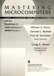 Cover of: Mastering microcomputers |