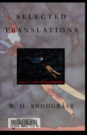 Cover of: Selected translations | W.D. Snodgrass.