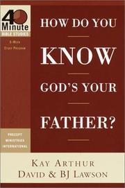Cover of: How do you know God's your father?