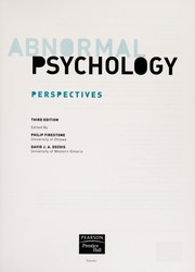Cover of: Abnormal psychology | Philip Firestone, David J. A. Dozois