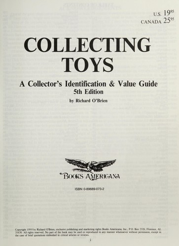 Collecting toys by O'Brien, Richard