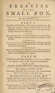 Cover of: A treatise on the small pox. In two parts ... | Theophilus Lobb