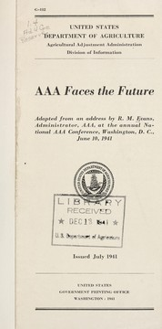Cover of: AAA faces the future | Rudolph Martin Evans