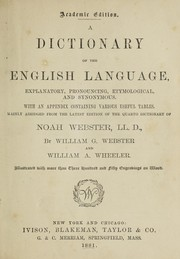 Cover of: A dictionary of the english language
