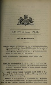 Cover of: Specification of John Imray | John Imray