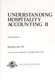 Cover of: Understanding hospitality accounting | Raymond Cote