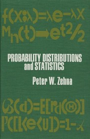 Cover of: Probability distributions and statistics | Peter W. Zehna