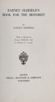 Cover of: Barney Oldfield's book for the motorist