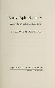 Cover of: Early epic scenery