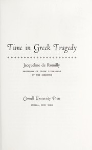Cover of: Time in Greek tragedy