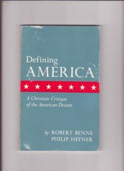 Cover of: Defining America | Robert Benne