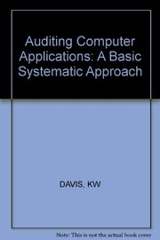 Cover of: Auditing computer applications | Keagle W. Davis