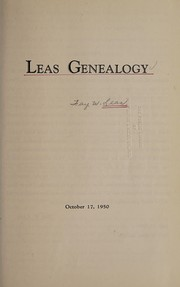Cover of: Leas genealogy