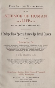 Cover of: Plain facts for old and young