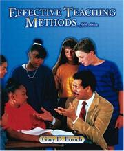 Effective Teaching Methods by Gary D. Borich