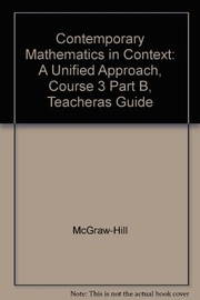 Cover of: Contemporary Mathematics in Context
