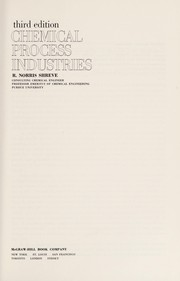 Cover of: Chemical process industries. | R. Norris Shreve