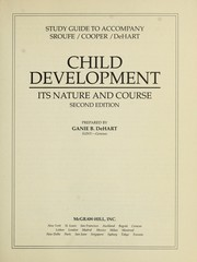 Cover of: Study guide to accompany Sroufe/Cooper/DeHart Child development | Ganie DeHart
