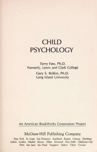 Child psychology by Terry Faw