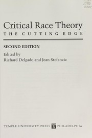 Cover of: Critical race theory