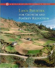 Cover of: Land policies for growth and poverty reduction