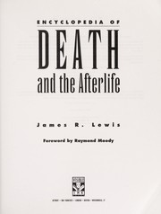 Cover of: Encyclopedia of death and the afterlife