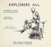 Cover of: Explorers all | Barbara K. Anthony