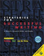 Cover of: Strategies for successful writing