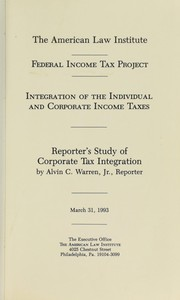 Cover of: Federal Income Tax Project | Alvin  C. Warren