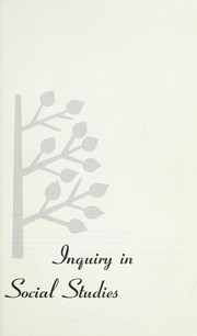Cover of: Inquiry in social studies