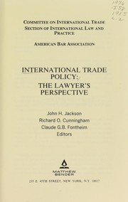 Cover of: International trade policy |