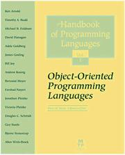 Cover of: The Handbook of Programming Languages (HPL)