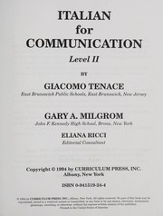 Cover of: Italian for communication | Giacomo Tenace
