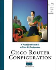 Cisco router configuration by Allan Leinwand