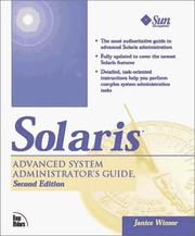 Cover of: Solaris advanced system administrator's guide